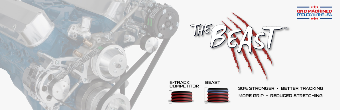 CVF Serpentine Conversion Kit - The Beast - Ford, Chevy, Pontiac, Mopar and more