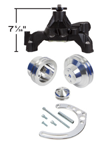 Chevy Big Block V Belt Pulley and Bracket Kits - Long Water Pump