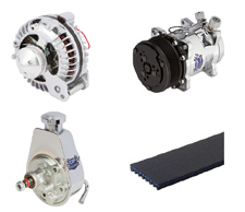 Chrysler (Mopar) Accessories including Alternators, Power Steering Pumps, Water Pumps and more.