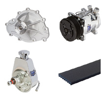 Pontiac V8 Engine Accessories - Water Pummp, Alternator, Power Steering, AC Compressor, Belts and more