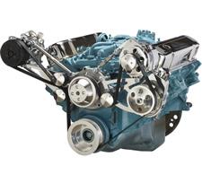 Pontiac V8 Engine Serpentine Pulleys and Brackets